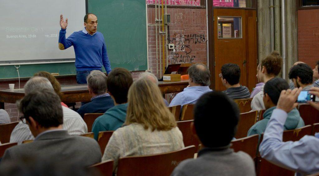 Sebastián Ceria brindó una charla en la Facultad.